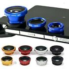 3in1 Clip-on Fisheye Wide Angle Macro Lens Kit For iPhone 5 6 Samsung Smartphone