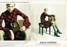 PUBLICITE ADVERTISING 055  1996  LOUIS VUITTON  bagages sacs TOILE DAMIER ( 2 pa