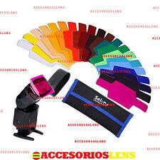 Kit filtros SELENS,20 COLORES Strobist para flashes Nikon,Canon,Yongnuo,SE-CG20