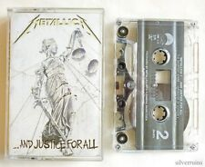 METALLICA And Justice For All CASSETTE TAPE 80's THRASH METAL 1988 Elektra