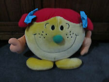 MR MEN...LITTLE MISS TROUBLE ...gorgeous big plush toy... original ..Hargreaves