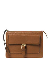Michael Kors Cooper Medium Leather Wristlet Wallet in Luggage Clutch! NWT