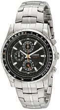 Casio MTP4500D-1A Men's Stainless Steel Black Dial Chronograph Watch