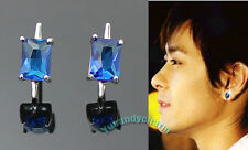 SET of Two Taiwan Drama My Lucky Star Jimmy Lin Sapphire Earrings Silver Studs