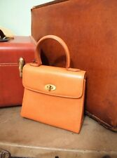 Vintage  Coach Madison Gracie 4413 british tan Leather Grace Kelly box Bag Italy