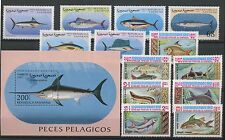 (TV17093) FISH, SMALL COLLECTION, UM/MNH, SEE SCAN