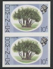 Dominica (S96) 1975 definitives 10c Screw Pine  IMPERFORATE PAIR  unmounted