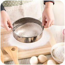 DIA 18cm Stainless Steel 40 Mesh Flour Sifter Sieve Baking Kitchen Tool