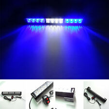 3X4 LED Emergency Warning Light Bar Traffic Advisor Vehicle Strobe Blue White