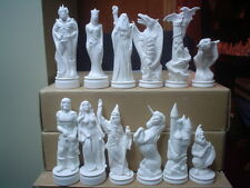 E366 - 64 Piece Ceramic Bisque Doc Holliday Good & Evil Chess Set-Ready to Paint