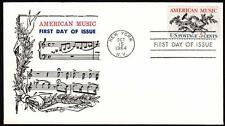 AMERICAN MUSIC Stamp 1252 Rottenberg Fiirst Day Cover FDC