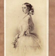 Grand Duchess Olga Nikolaevna of RUSSIA Queen Württemberg 1860 CDV albumen Photo