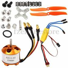 RC 2200KV Brushless Motor A2212-6 + 30A ESC + Propeller Kit For RC Airplane Hot