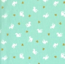 Michael Miller Magic by Sarah Jane MD7197 Turquoise Baby Dragon BTY Cotton Fab