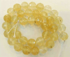 "10mm Faceted Yellow Watermelon Tourmaline Gems Round loose Beads Strand 15""AAA"