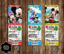 Mickey Mouse Clubhouse Birthday Ticket Invitation - 20 Printed W/envelopes
