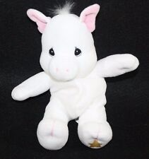 Pig Tender Tail Precious Moments Plush Bean Bag Stuffed Animal Lovey White 8.5""