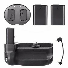 Meike MK-A6300 Battery Grip For SONY A6300 + 2Pcs NP-FW50 Battery + Dual Charger