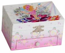 Mele and Co. Ashley Girl's Musical Ballerina Fairy And Flowers Jewelry Box