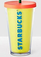 New With Tag STARBUCKS Double Wall Cold Tumbler In Yellow 16 OZ/Grande