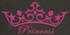 Princess Crown Tiara Sticker Cute Fun Girl Royal Car Bumper Laptop Window Fancy