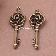 20pc Antique Bronze Charms key Pendant Accessories Bead wholesale PL415