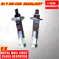 2X H1 Xenon White 6000K 7.5W COB LED SMD DRL Driving Fog Beam Head Lights Bulbs