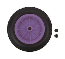 "PU 14"" Puncture Proof LILAC / PURPLE Wheelbarrow Wheel Tyre 3.50 - 8 FOAM"