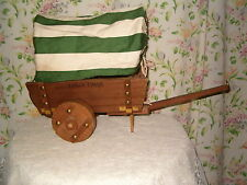 SHABBY VINTAGE COWBOY LAMP COVERED CART WAGON PIONEER WESTERN