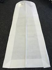 """Extra Large wide wedding Dress breathable Cover bridal Garment Zip Bag 72"""" long"""