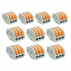 10 x Spring Terminal Block Cable 3 Wire Conductor Compact Connector 28-12AWG 413