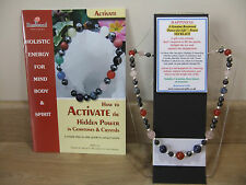 HAPPINESS an Holistic- Hand-Made 18 inch Esoteric Gemstone Necklace plus a book.