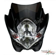 Universal Enduro Cross Motorcycle Streetfighter Headlight Front Fairings Black