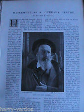 Haslemere Writers Tennyson Eliot Harrison Doyle Tyndall Victorian Article 1898