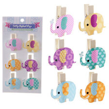 Pack of Elephant Pegs Crafting Art Card Making Accessories Gifts Presents
