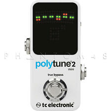 TC Electronic PolyTune 2 Mini Chromatic Guitar Electronics Tuner Pedal v2 - NEW