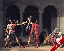 OATH OF HARATII ROMAN WAR LEGEND ROME HISTORY PAINTING ART REAL CANVAS PRINT