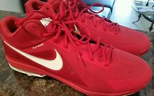 New Nike Air MVP Pro Low Metal Baseball Cleats RED Men's Size 16
