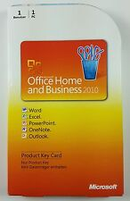 Office 2010 Home and Business Vollversion Box Deutsch PKC 32 / 64 Bit T5D-00299