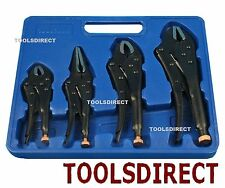4pc Heavy Duty Grip Wrench Set Vice Locking Lock Pliers Mole Grips Tools