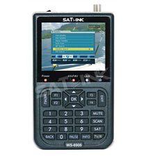 "SATLINK WS-6906 DVB-S FTA Satellite Finder 3.5"" LCD Satellite TV Receiver QPSK"