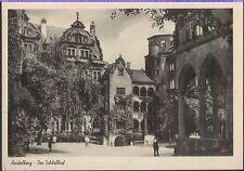 Alte Postkarte - Heidelberg - Der Schloßhof