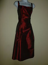 873- EDEN MAIDS 7287 SZ 10 MAROON RED BRIDESMAID PARTY PROM GOWN DRESS