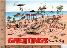 Unused Holiday Greeting Card from 1990 Desert Shield Gulf War
