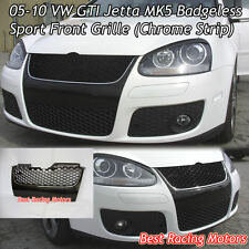 05-10 VW GTI Jetta MK5 Badgeless Front Grille (Chrome)