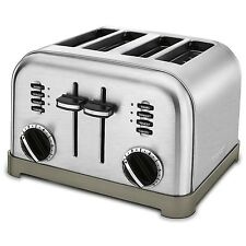Retro Design 4-Slice Toaster Cuisinart CPT180 Metal Brushed Stainless Steel NEW