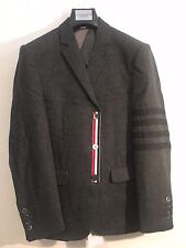 Thom Browne Woll Black Striped Suit  Size4 IT48