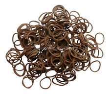 250 Mini Brown Hair Elastic Rubber Bands Braids,Dreads,Locs,Plaits