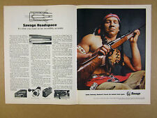 1971 Savage 110 bolt-action Rifle photo headspace system vintage print Ad