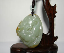 "2.2"" China Certified Nature Nephrite Hetian Jade Fortune Pixiu and Ruyi Pendants"